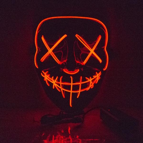 Halloween Scary Mask Cosplay Led Costume Mask EL Wire Light Up gr58