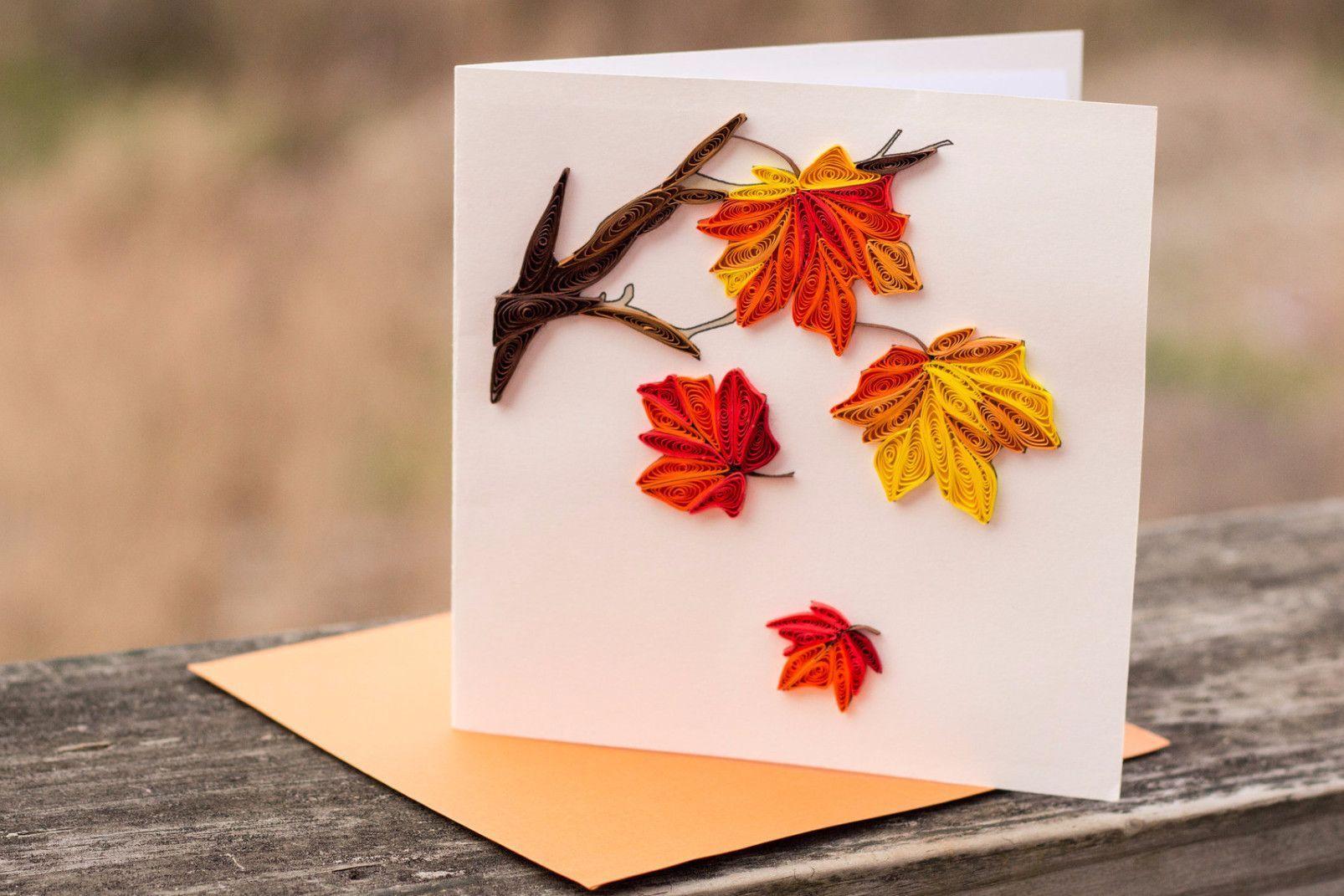 Осенний лист открытка своими руками, днем рождения галюшка