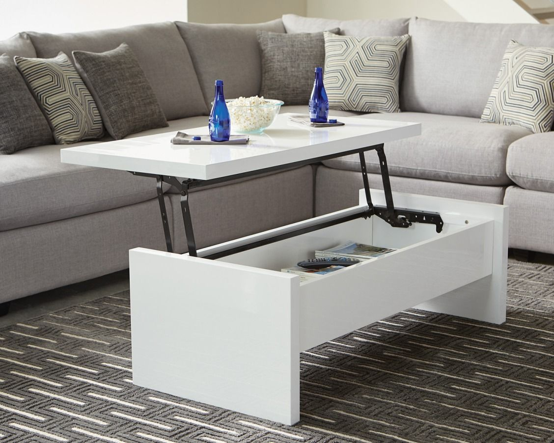 A Coffee Table That Doubles As Storage Is A Win Win The Scott Brothers Designed A Modern High Gloss C Coffee Table Lift Top Coffee Table Lift Up Coffee Table [ 902 x 1128 Pixel ]