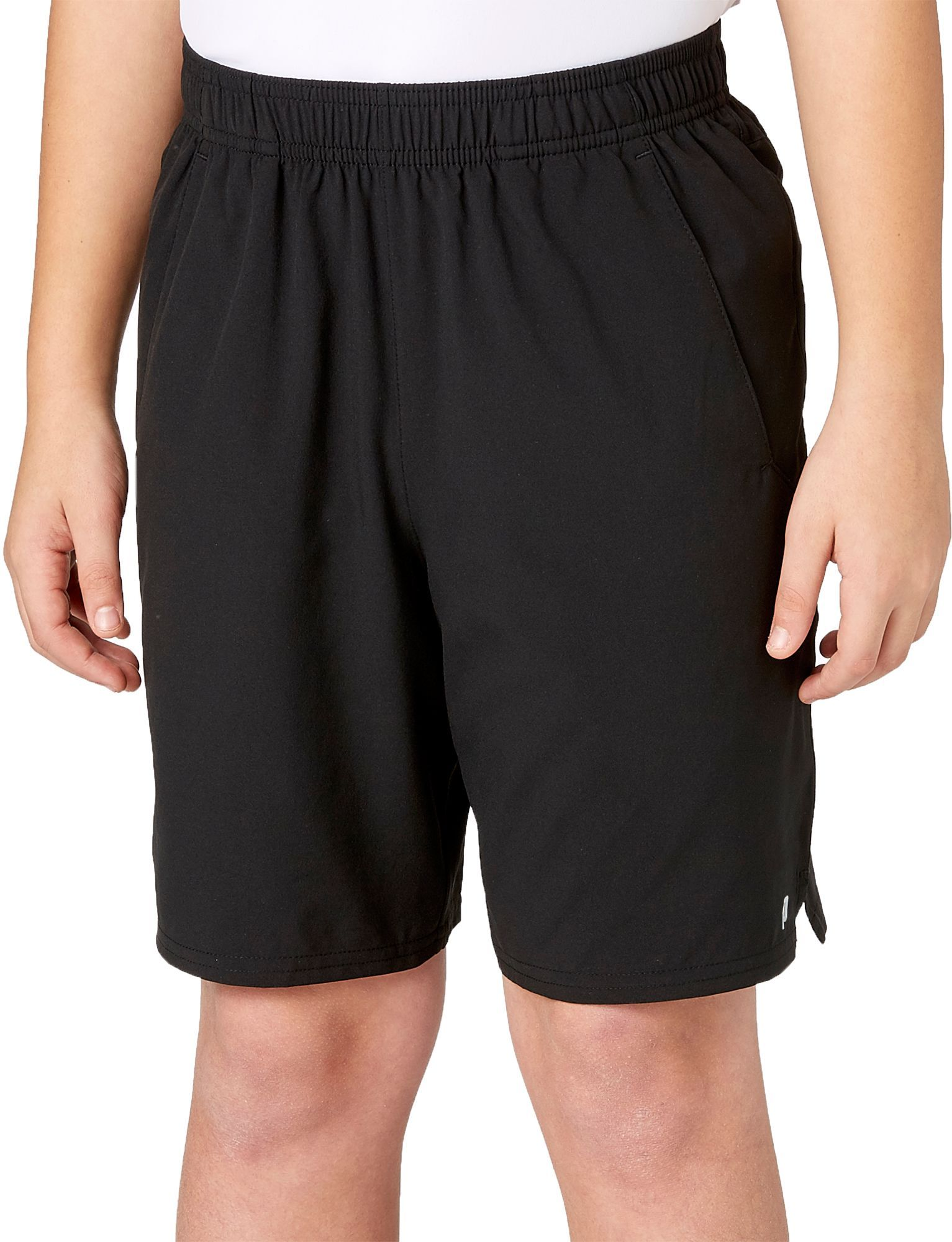 Prince Boys Match Woven Shorts Size Small Black