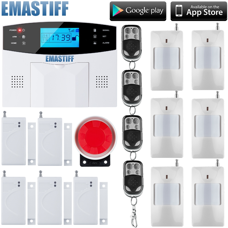 74.25$ Watch Now   Wireless Wired Alarm Systems Security Home LCD Speaker  Keyboard Sensor GSM