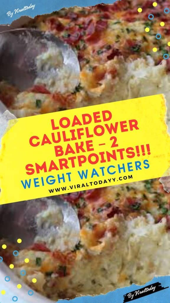 Ingredients:      4 slices center cut bacon     6 cups (about 24 oz) cauliflower florets     3 cloves crushed garlic     1/3 cup 1% buttermilk     1 tablespoon whipped butter     3/4 tsp kosher salt     fresh black pepper, to taste     2 tablespoons minced fresh chives, divided     1/4 cup shredded reduced fat shredded cheddar #loadedcauliflowerbake