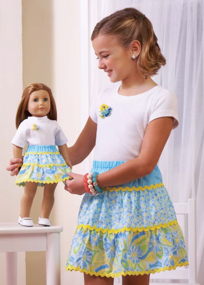 75f4df7ee0 Do you know a little girl who loves dressing her favorite doll in new  outfits? Make her day with this easy-to-construct tiered skirt for an  18-inch doll.
