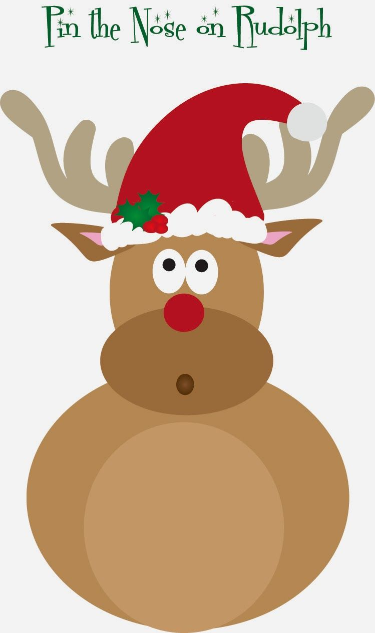 picture relating to Pin the Nose on the Reindeer Printable titled Cost-free Pin the Nose upon Rudolph printable Ho Ho Ho Absolutely free