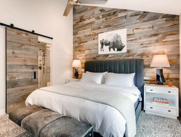Top 70 Best Wood Wall Ideas Wooden Accent Interiors Feature Wall Bedroom Wood Walls Bedroom Wood Accent Wall Bedroom