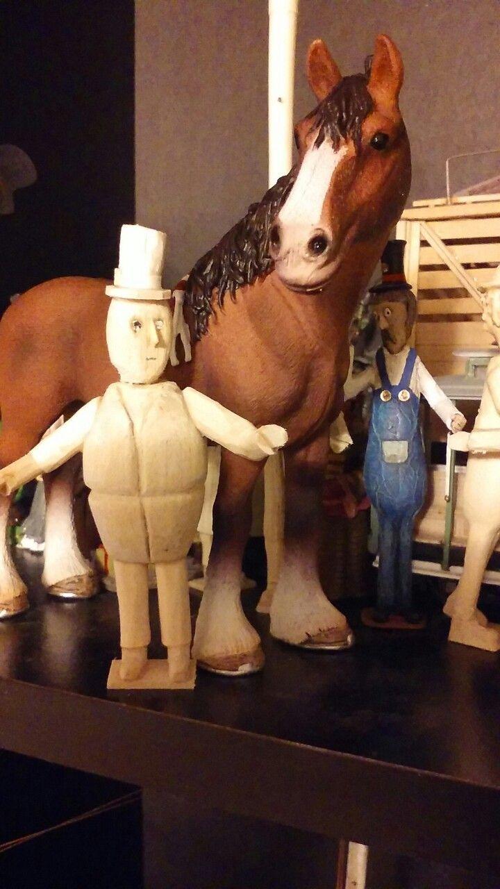 scratch made wooden figures ( rowland emmett style miniatures)
