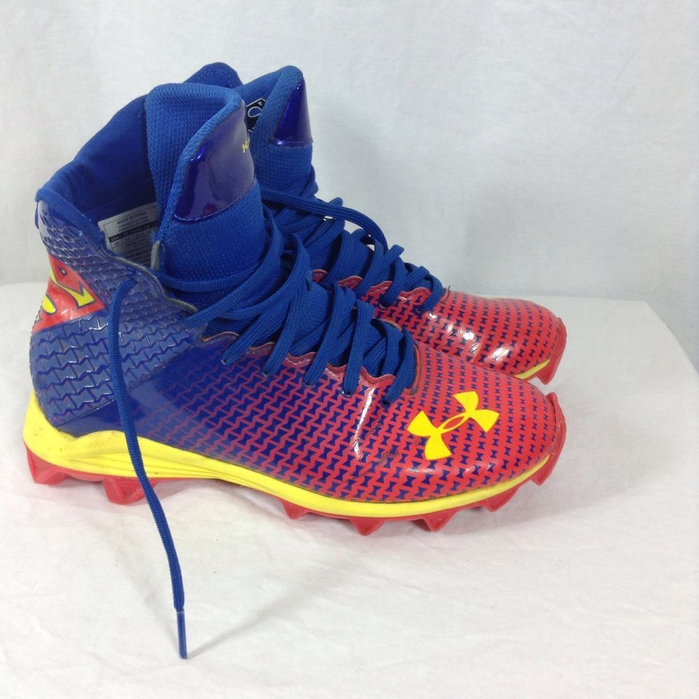 Under Armour Football Cleats Size 6 Alter Ego Superman Highlight Kids Boys   Underarmour  superhero  superman 2e4342daa748d