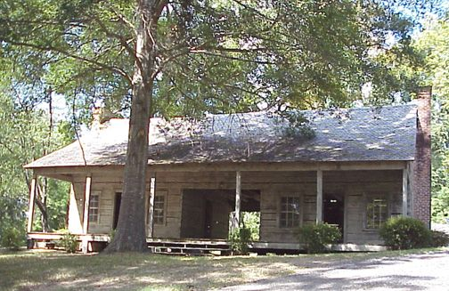 a dog trot house, near port gibson, miss. these cabins were built so