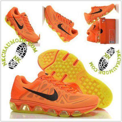 bas prix 6058c 6c360 Mode | Nike Chaussure Sport Air Max 2010 Homme Orange/Jaune ...