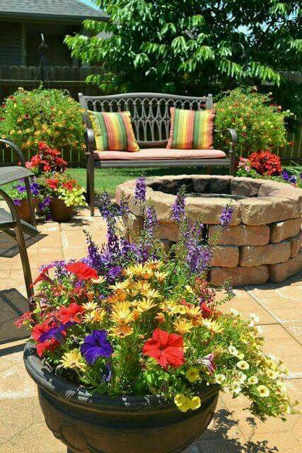big potted plants are cute patio ideasbackyard - Potted Plant Ideas For Patio