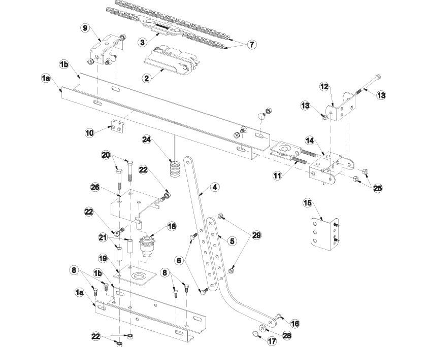 Classic Drive Rail Assembly 4 Cog Model Old Style 3014