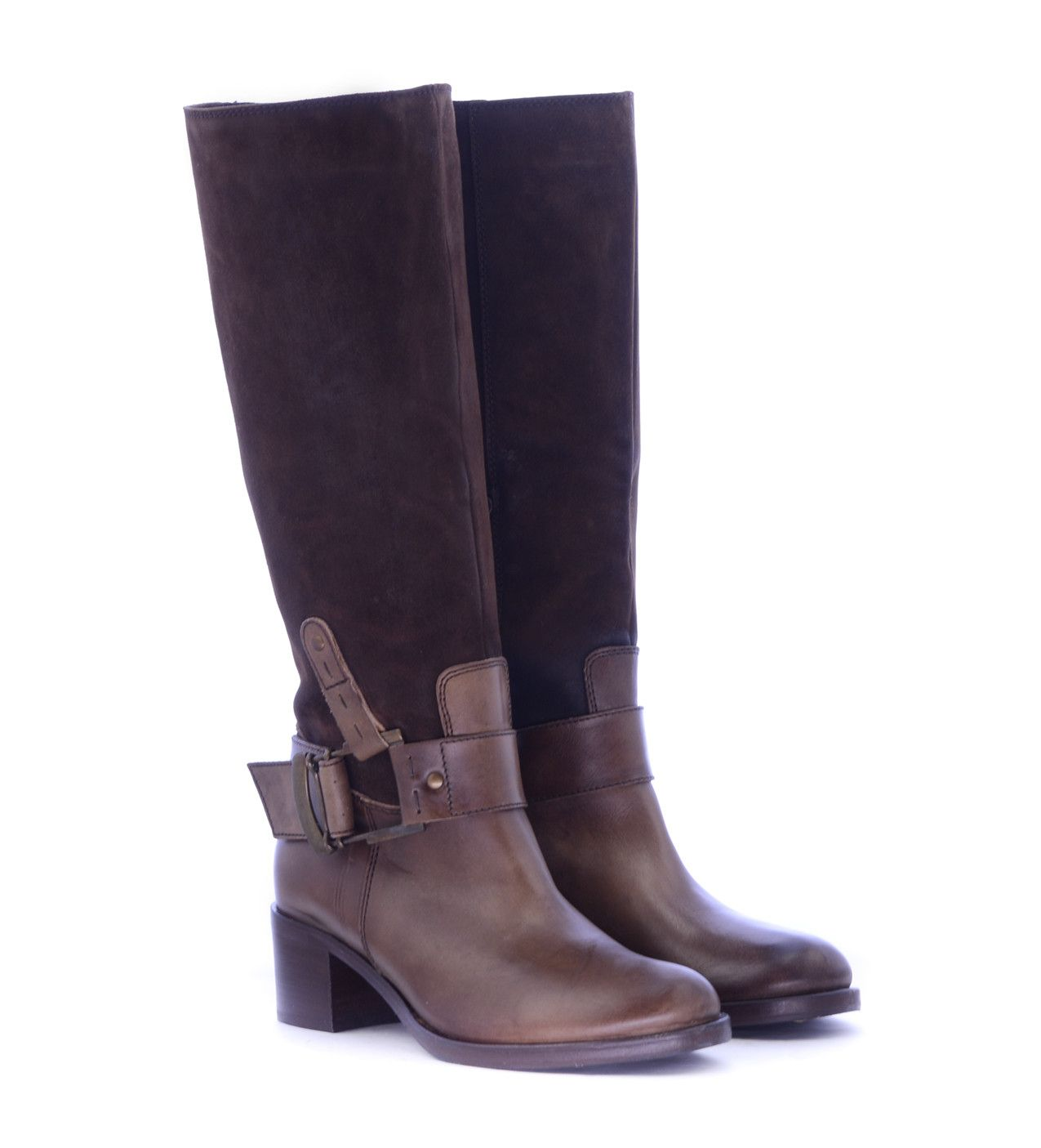 ce04fb9d0a Leather Women Boots Αναβατικές Μπότες