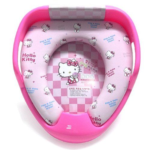 hello kitty potty chair rei low camp combined training seat cover bidet toilet for child baby rare cuddly kiity