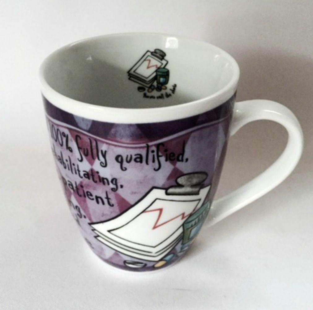 Nurse Mug Nurses Call the Shots Medical Caring Purple Fine Porcelain Coffee Cup