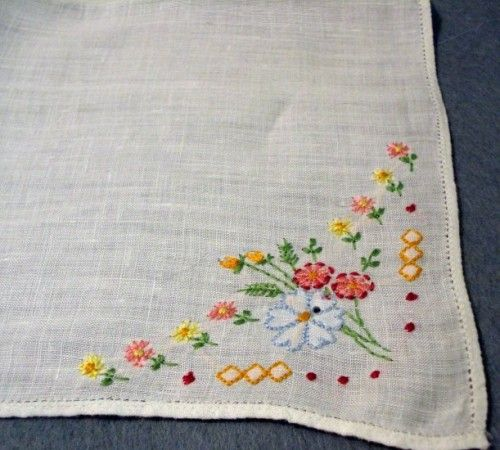 Embroidered Handkerchiefs by Amanda Gibson