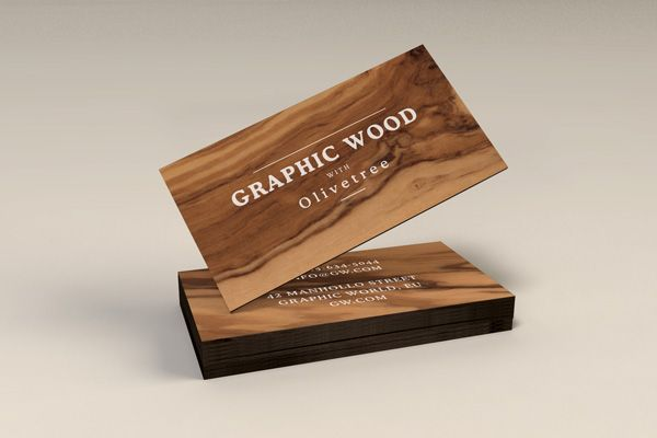 Wooden Business Cards Mockup Wood Business Cards Business Card Mock Up Wooden Business Card