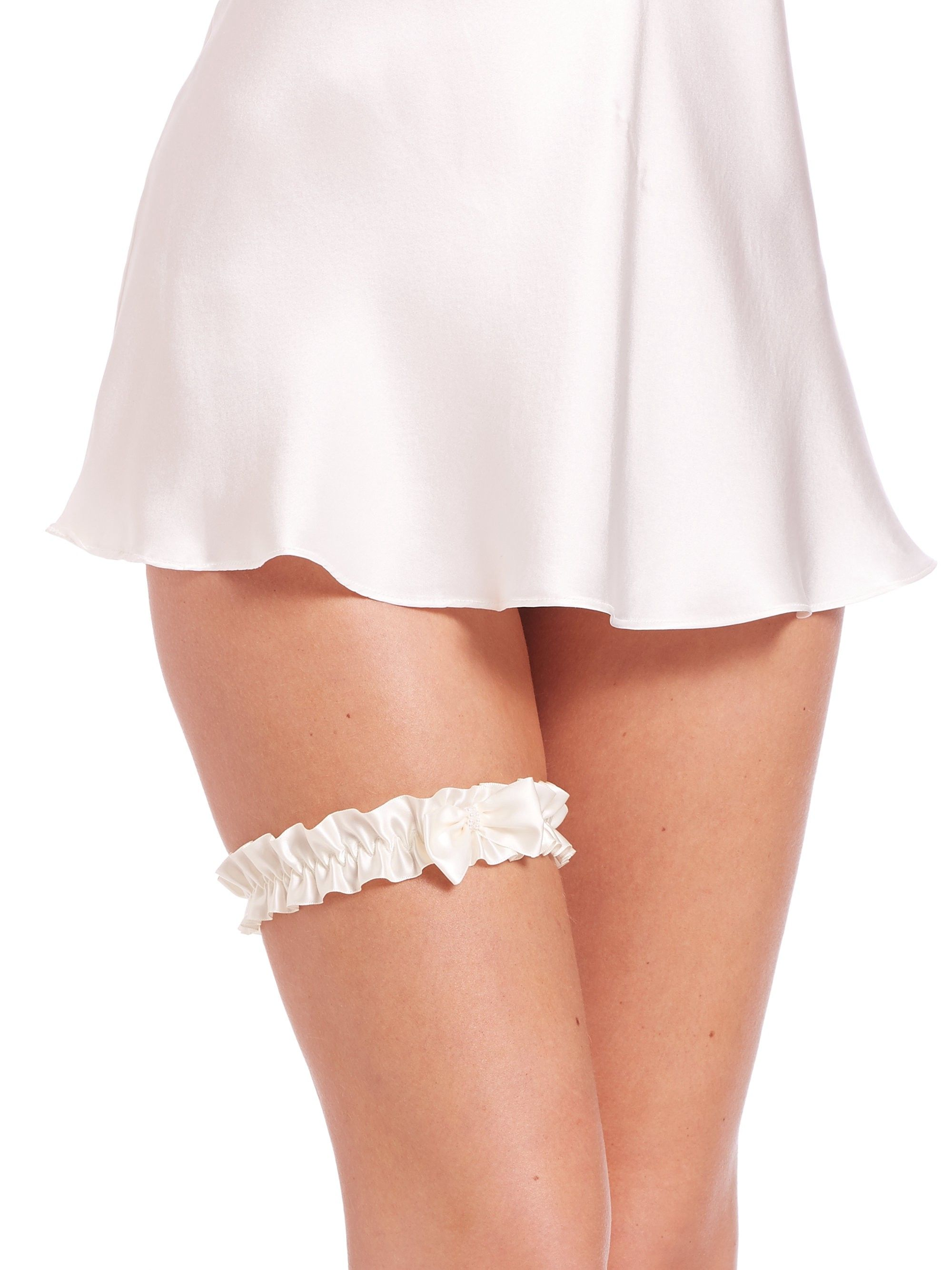 907f612a030 Hanky Panky Embellished Bow Garter - Light Ivory One Size