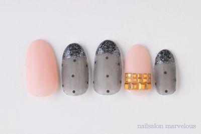 マット&ツヤのmix  秋の大人かわいいネイルまとめ  nails nail art convenience
