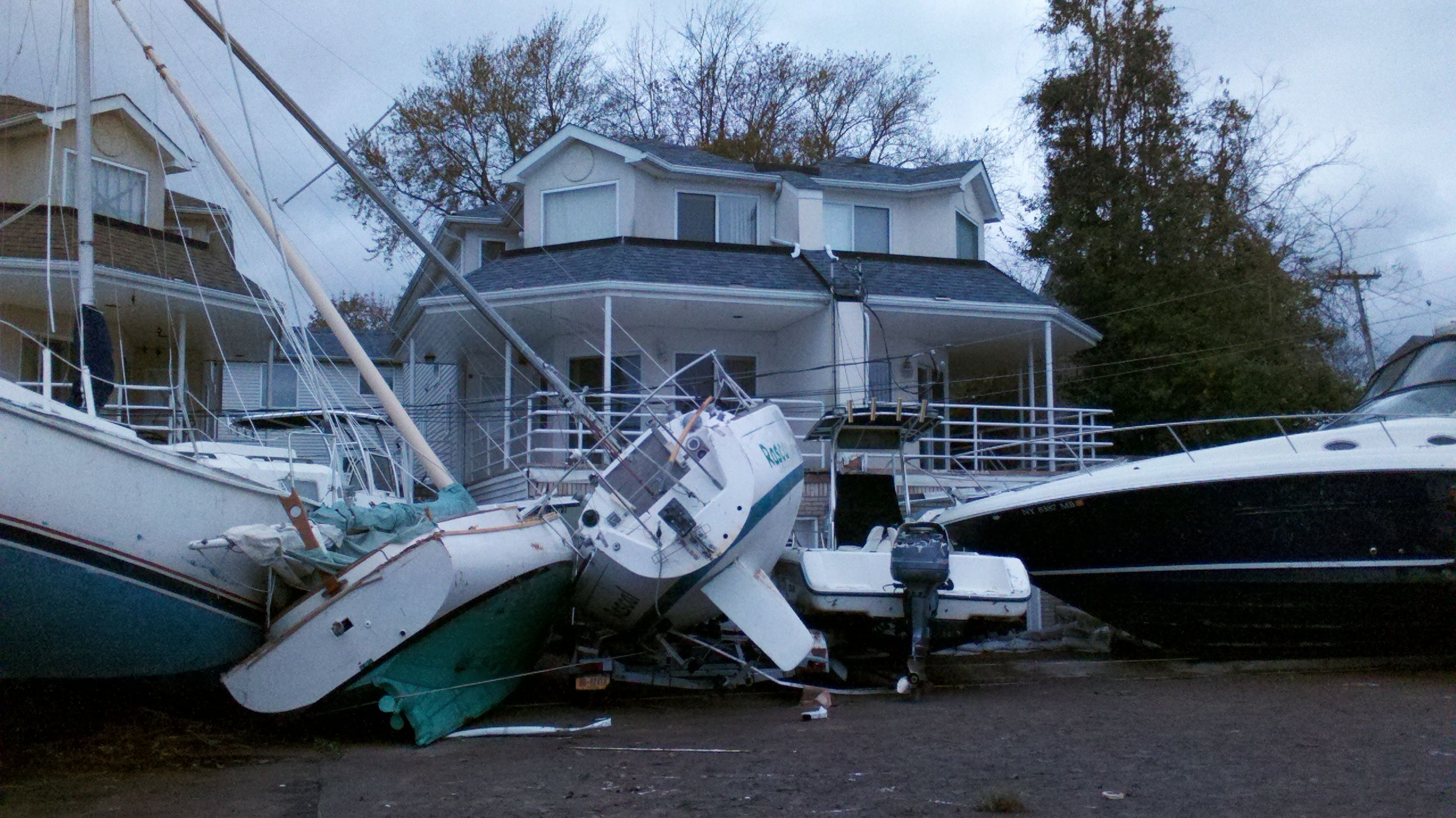 Destruction at the great kills marina in 2020 lower