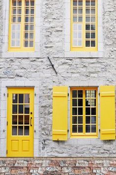 Canary Yellow Door Open Shutter Window Backdrop - 6259 #yellowaesthetic