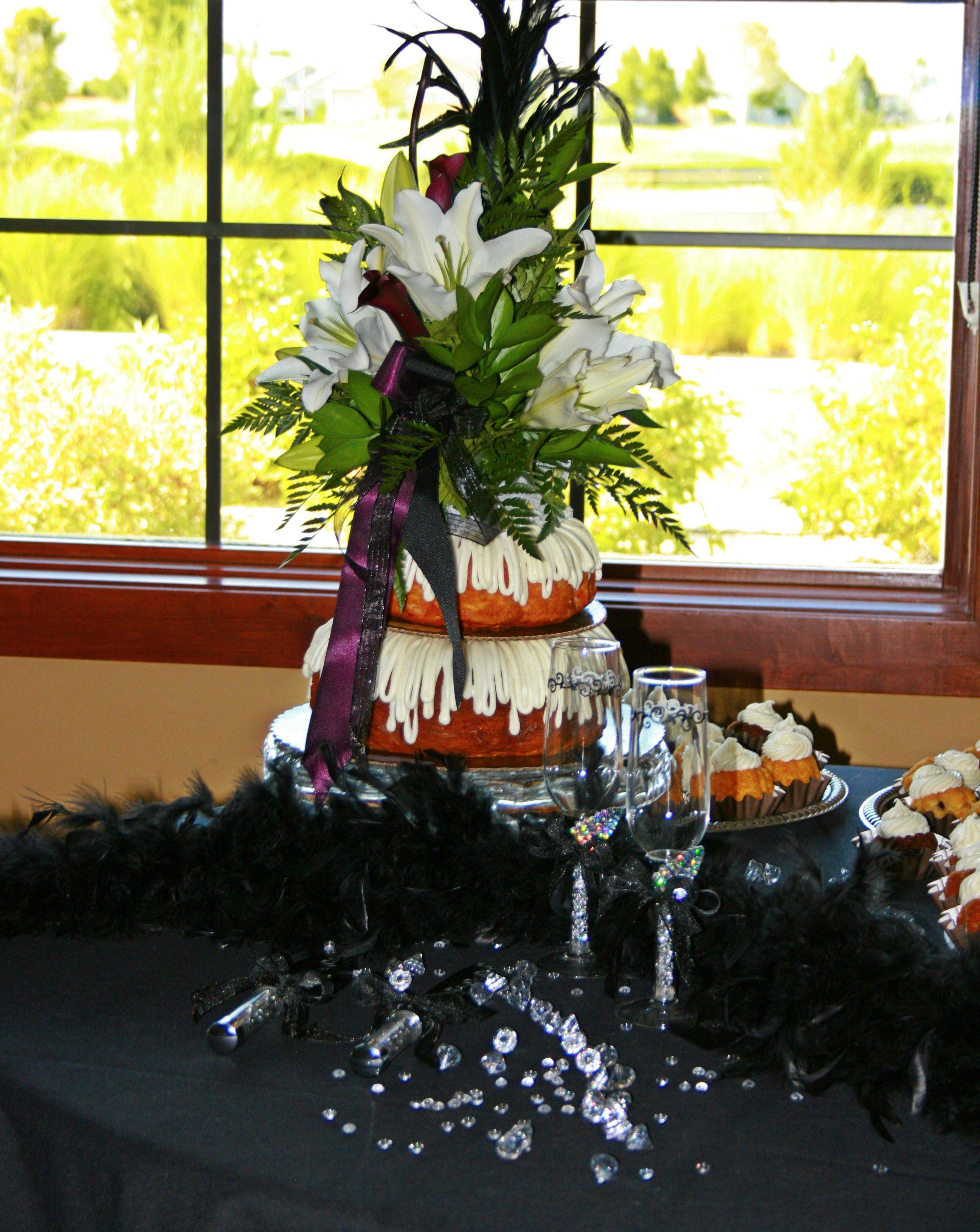 Nothing bundt cake wedding cake displayed at dayton valley