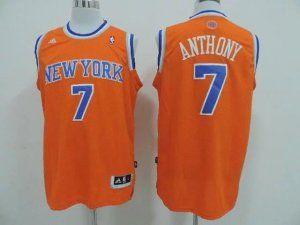low priced a8ccf 4b3ad New York Knicks Jersey Carmelo Anthony #7 Orange Jersey [J91 ...