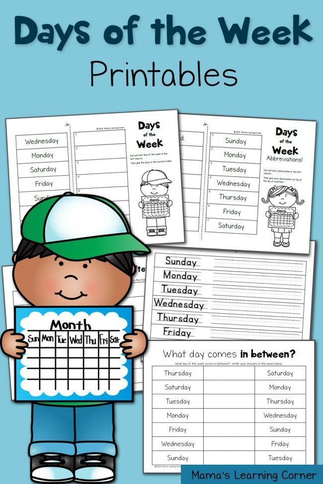 Days of the Week Worksheets | Pinterest | Englischunterricht ...