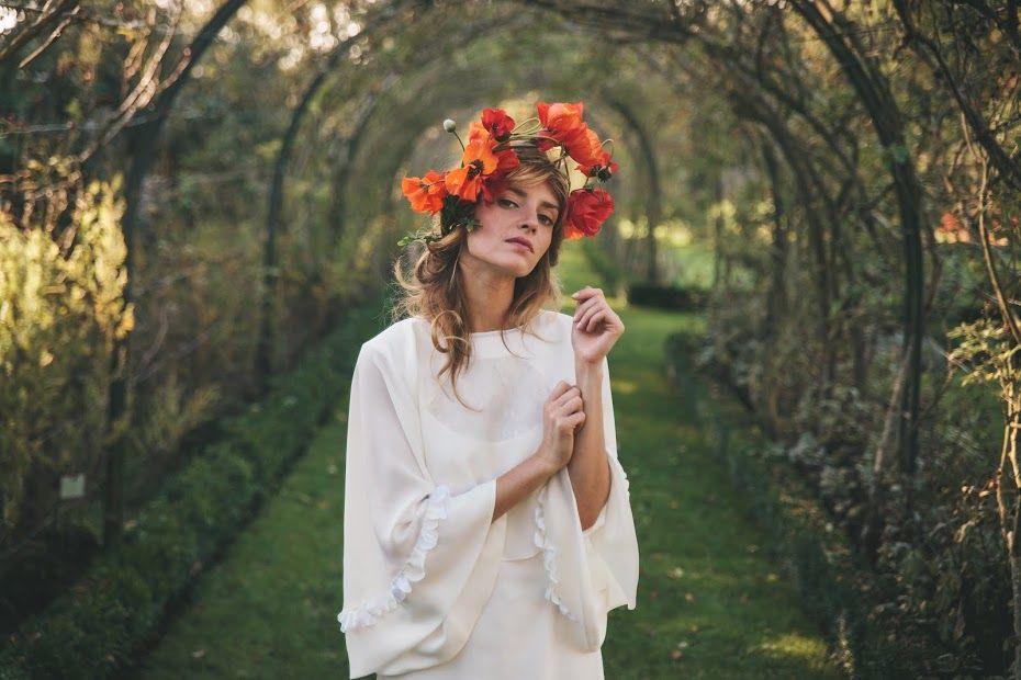 Couronne de fleurs Constance Fournier