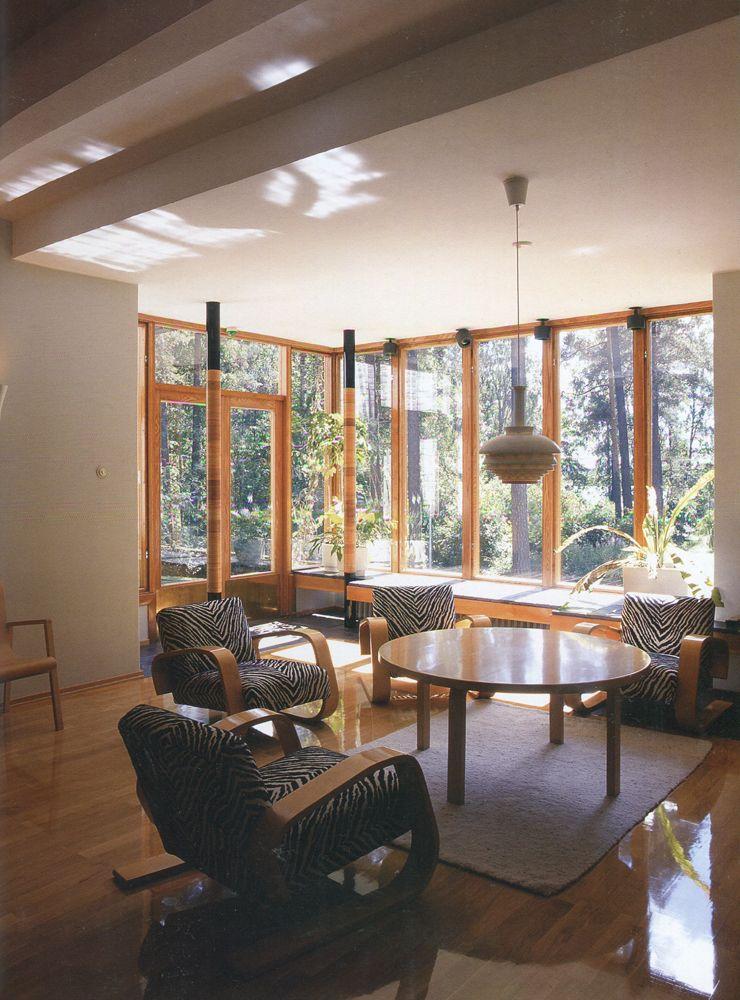 Zebra Print Chairs Alvar Aalto House Interior Architecture