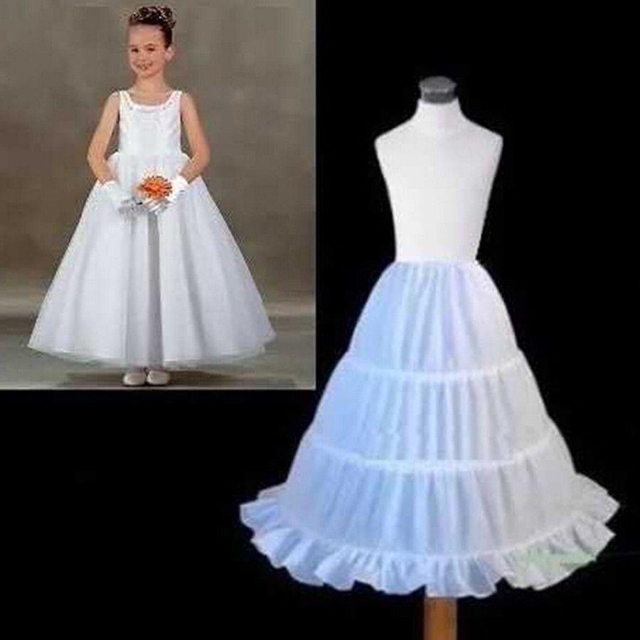 Kids Girls Petticoat Tutu Underskirt Crinoline Dress Slips for Wedding Pageant