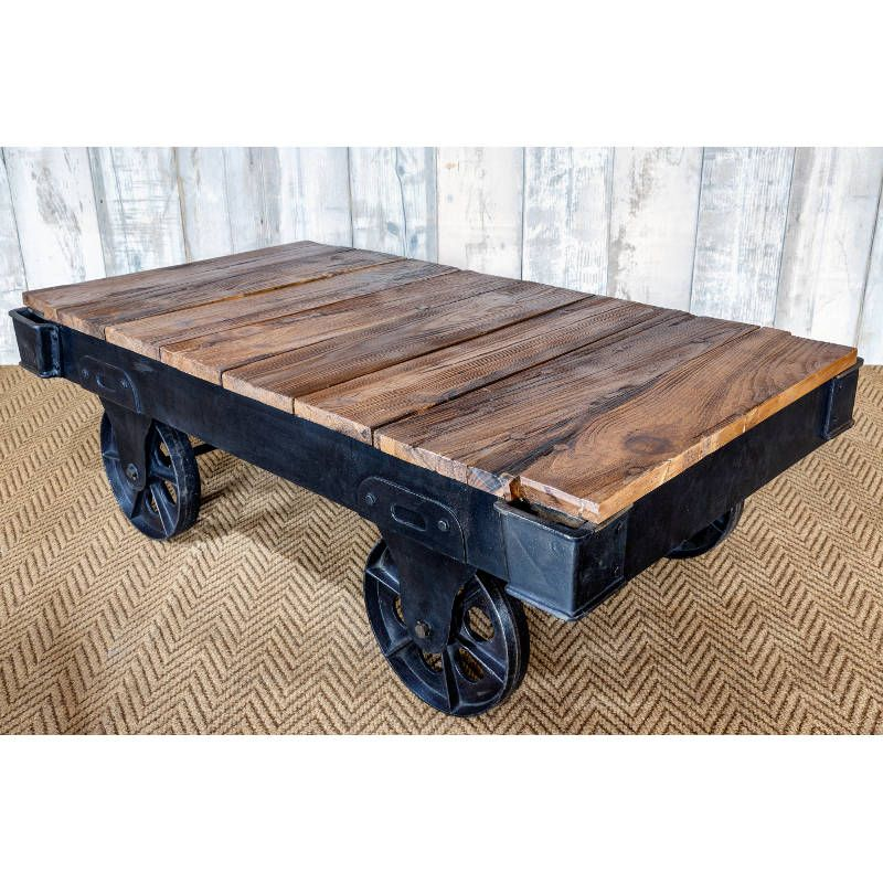 Beautiful Flatbed Trolley Coffee Table | Vintage Tables | Andy Thornton Ltd