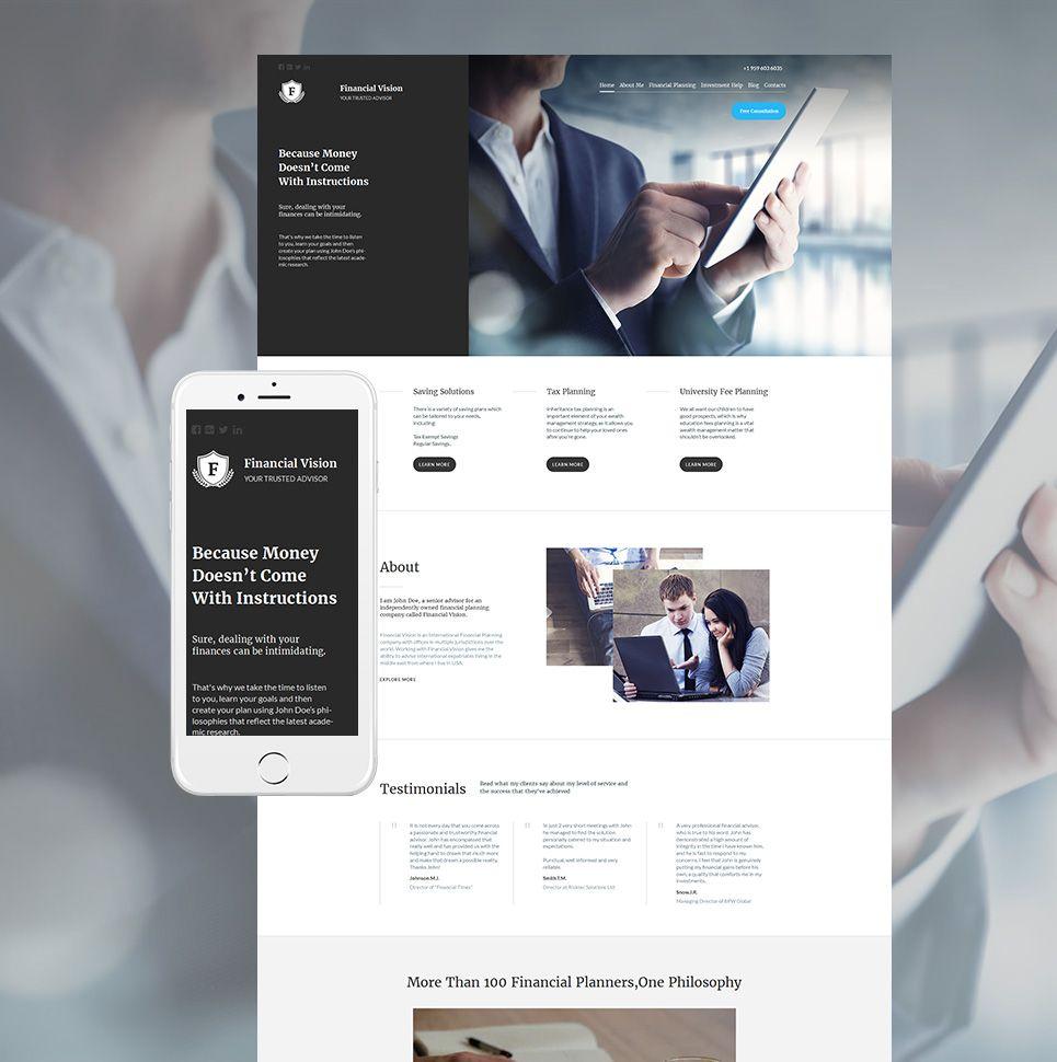 Best Financial Advisor Website Design for Consultant Web