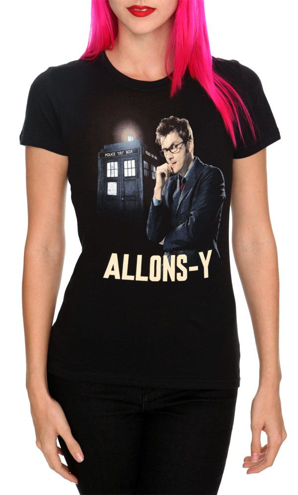 b2f913ee18f Doctor Who Allons-y Girls T-Shirt
