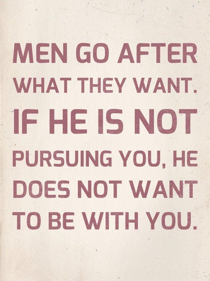 Stop pursuing him