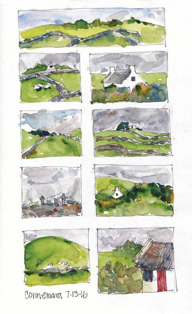 CONNAMARA, IRELAND - vignette travel sketching
