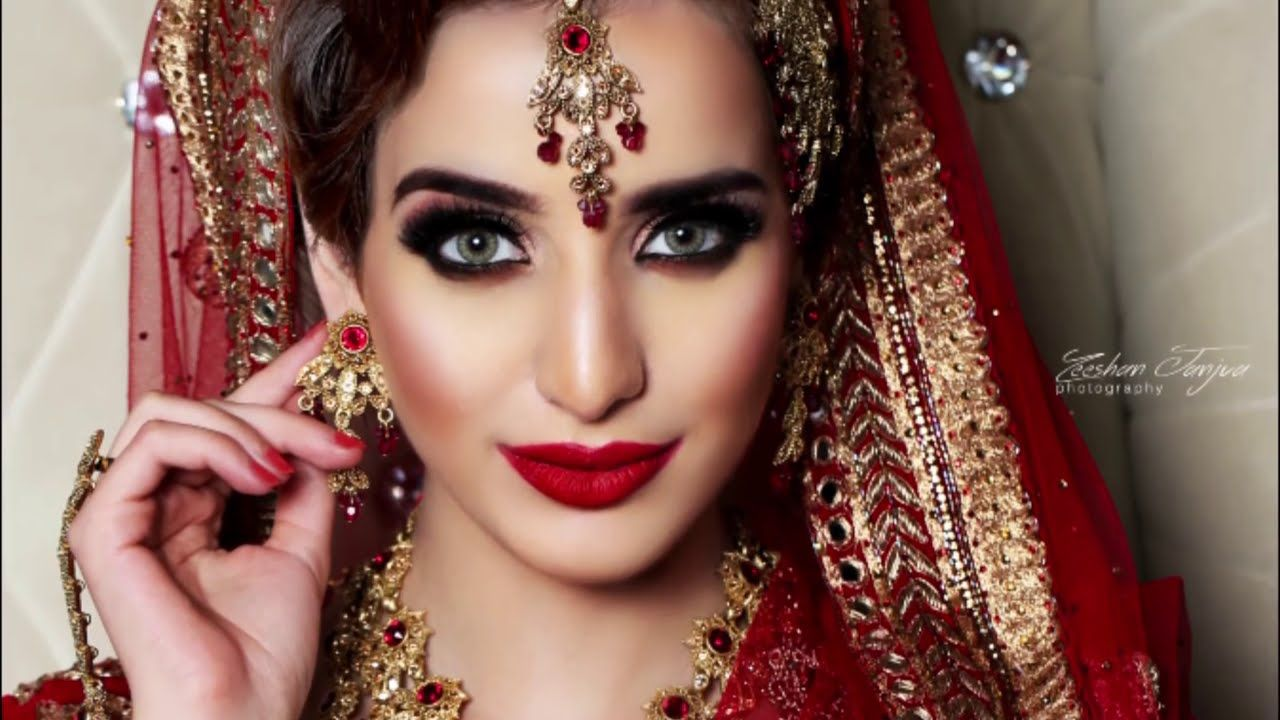 beautiful pakistani and indian traditional bridal makeup
