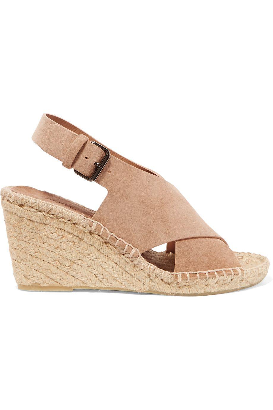 cb3a5e086f VINCE Sabrina Suede Espadrille Wedge Sandals. #vince #shoes #sandals ...