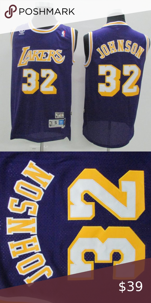 Brand New Los Angeles Lakers Magic Johnson Jersey Brand New Authentic Nba Men S Los Angeles Lakers Magic Johnson 19 In 2020 Magic Johnson Nba Shirts Los Angeles Lakers