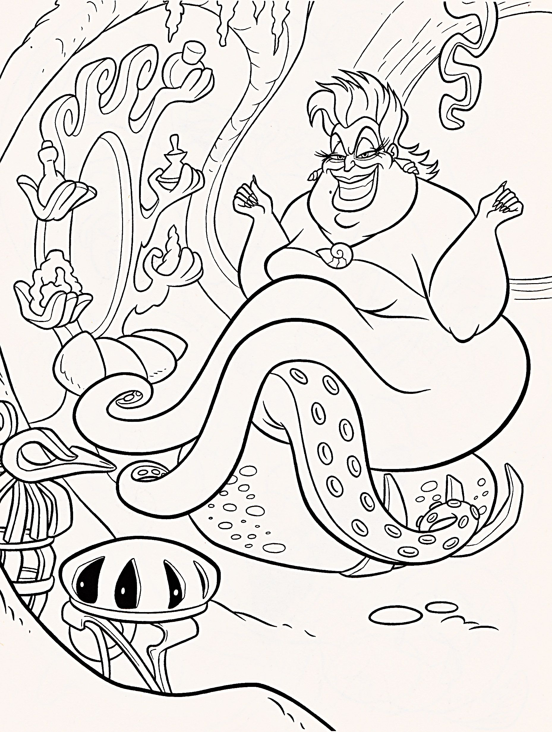 Free Coloring Pages Download Ursula 05 Pinterest Disney Of