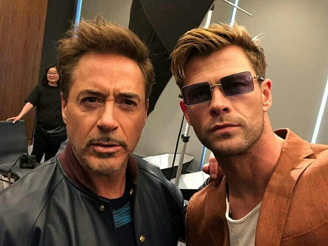 Chris Hemsworth and RDJ Avengers Endgame Press Tour