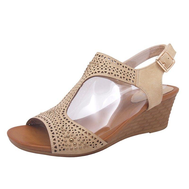 Sandaly Damskie Na Koturnie Niki Na Lato Wygodne 5980478086 Oficjalne Archiwum Allegro Shoes Wedges Fashion