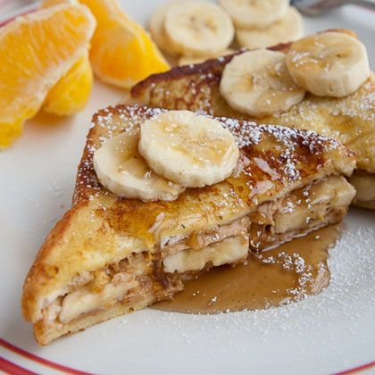 Peanut Butter Banana French Toast-easy to make healthy