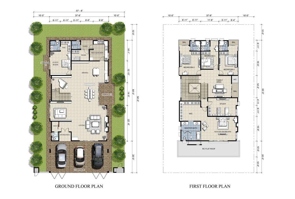 4 Bedroom With Basement Floor Plans
