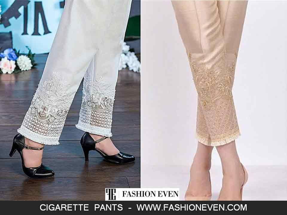 New style cigarette pants linen cigarette pants