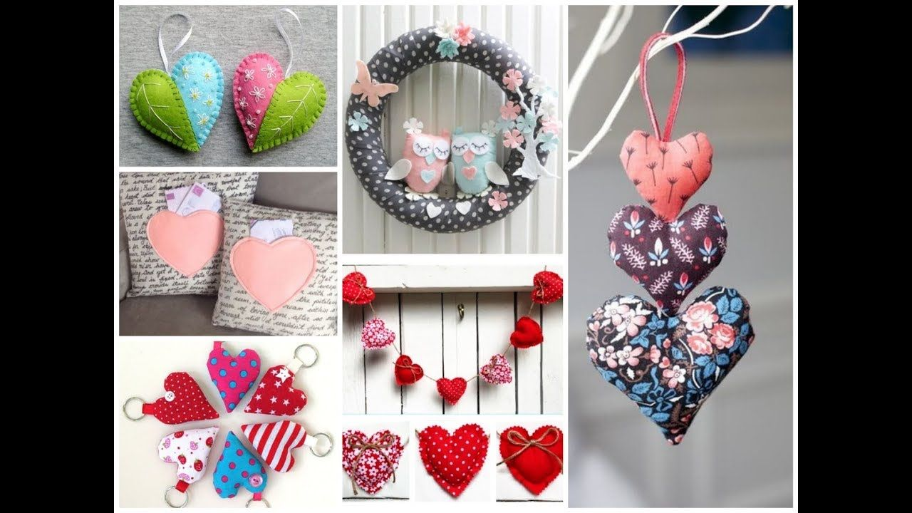 50 Cute Valentine S Day Sewing Projects Valentine S Craft Ideas To Make And Sell Youtube Valentine Crafts Diy Valentines Gifts Valentines Diy