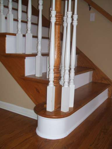 Best Here S An Example With The Stained Wood Trim Stairs Trim 400 x 300