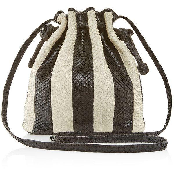 69195a1155dd Hunting Season Black   White Striped Python Mini Bucket Bag (915 CAD) ❤  liked