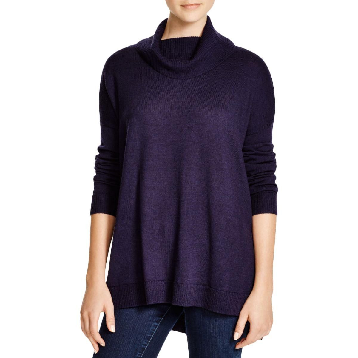 Womens Turtleneck Pullover Tunic Sweater | Eileen fisher