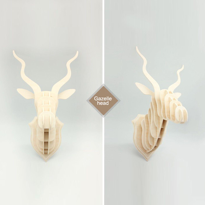 GACELA de madera piezas para montar -Decoración pared- (Trofeos ...