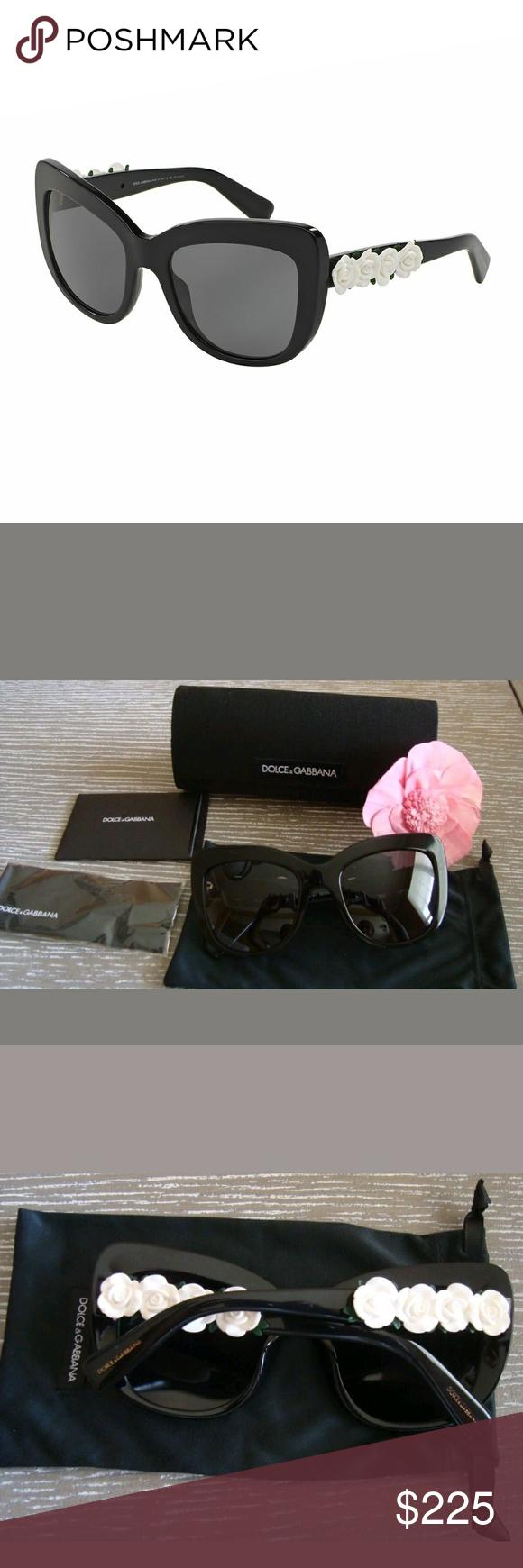 c73f5191cbfe Dolce & Gabbana Catwalk Roses Polarized Sunglasses DOLCE & GABBANA  Sunglasses DG 4252 921/81 Black 55MM Brand new authentic DOLCE & GABBANA  Sunglasses in ...